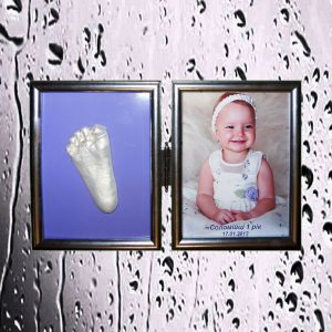 Слепок ручки или ножки малыша 2D в оригинальном исполнении