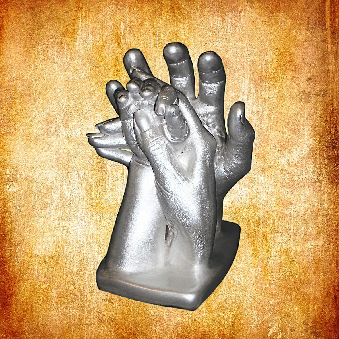 Слепок рук всей семьи своими руками 59