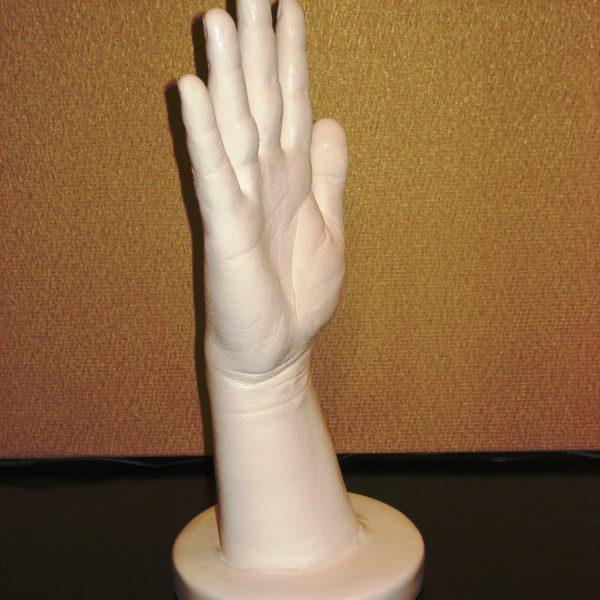 Слепок руки 3д на подставке
